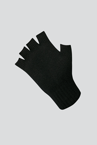 Unisex Fingerless Glove - black