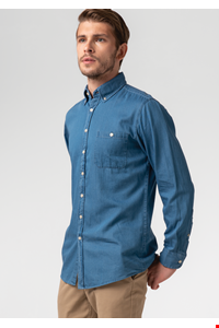 Dylan Men's Denim Shirt - blue