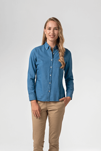 Dylan Women's Denim Shirt - blue