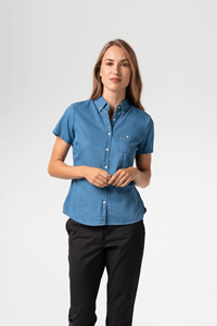 Dylan Women's S/S Denim Shirt - blue