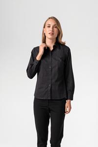 New York Women's Blouse - mid grey/black/white