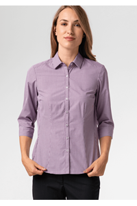Cambridge Women's 3/4 Sleeve Blouse - purple/white