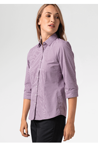Cambridge Women's 3/4 Sleeve Shirt - purple/white