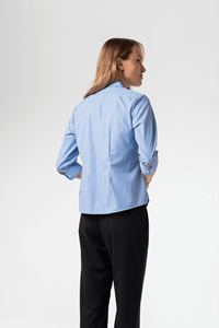 Kensington Women's 3/4 Sleeve Blouse - blue/white