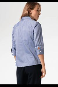 Oxford Women's 3/4 Sleeve Blouse - indigo