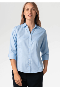 Oxford Women's 3/4 Sleeve Blouse - sky blue