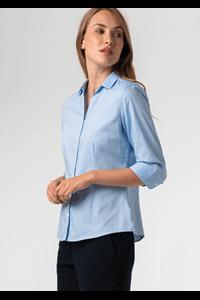 Oxford Women's 3/4 Sleeve Blouse - sky blue