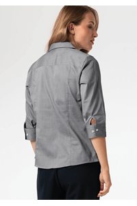Oxford Women's 3/4 Sleeve Blouse - silver grey