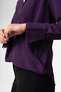 Barcelona Cross Over Women's Blouse - purple