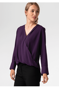 Dorset Cross Over Women's Blouse - purple
