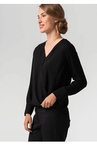 Dorset Cross Over Women's Blouse - black