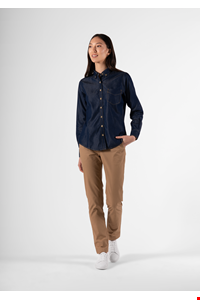 Serena Women's Denim Shirt - indigo