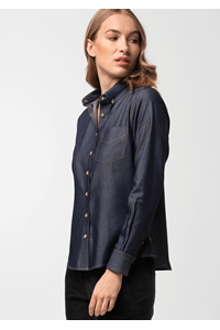 Serena Women's Denim Blouse - indigo