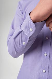 Riga Men's Shirt - lilac/white