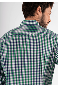 Gloucester Men's Shirt - green/navy/white