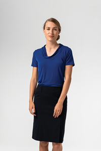 Athens Women's S/S Top - cobalt