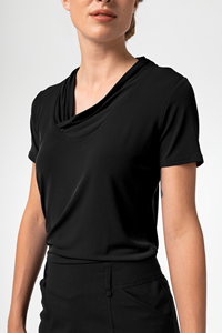 Athens Women's S/S Top - black