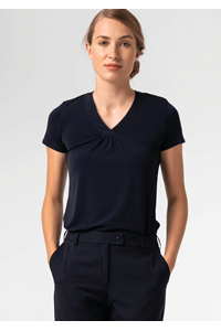 Samantha Women's S/S Top - navy