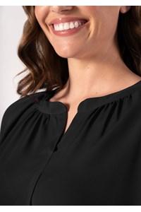 Florence Women's 3/4 Sleeve Top - black