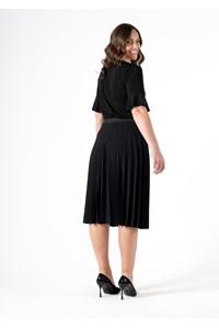 Roma Women's Frill Sleeve Top - black
