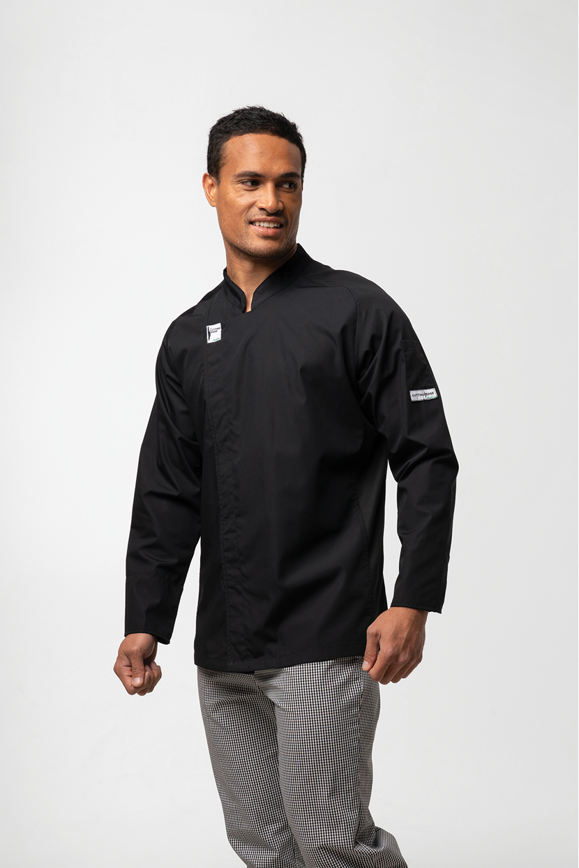 Chef Unisex L/S Flex Dome Jacket With Mesh Panels