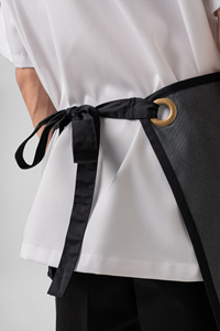 Reversible Half Apron - black
