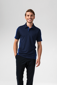 Sportline Unisex S/S Polo - navy/royal