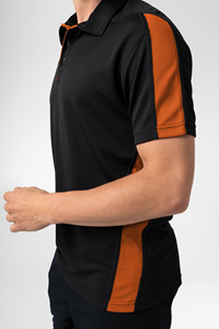 Sportline Unisex S/S Polo - black/orange