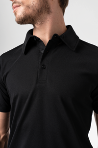 Deane Men's S/S Polo - black
