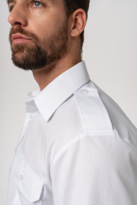 Deane Men's Epaulette Shirt - white