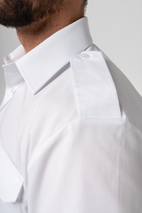 Deane Men's S/S Epaulette Shirt - white
