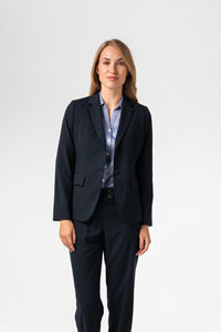 Arabella Women's Longline Jacket - navy