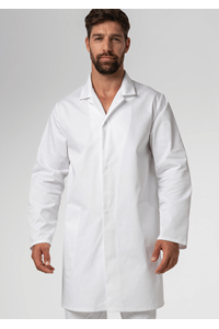 Food Dustcoat With Pockets - white