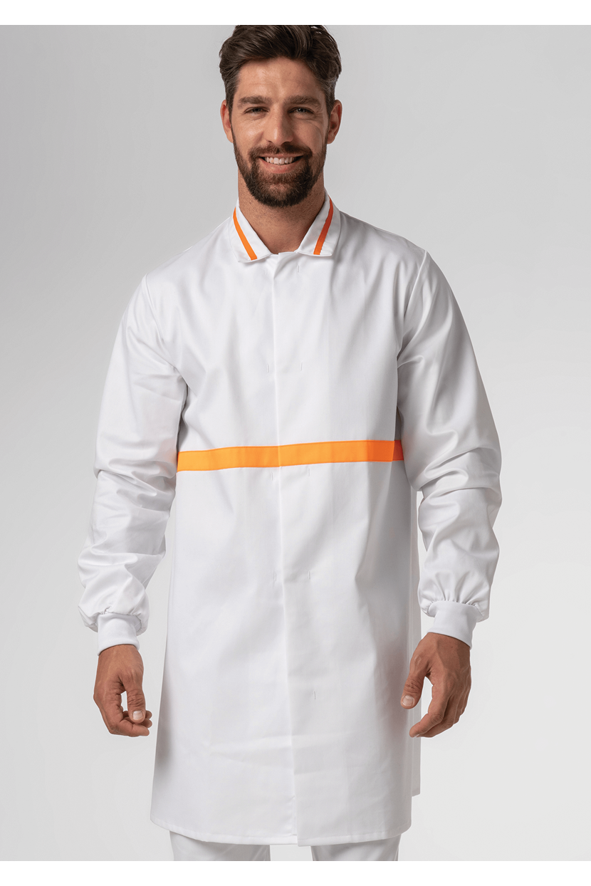 Food Dustcoat With Contrast Trim