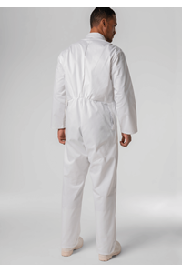 Food Zip Overall With Pockets - white