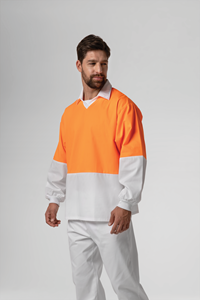 Food Hi Vis Day Top - white/orange