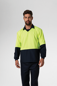 Food Hi Vis Day Top - navy/yellow