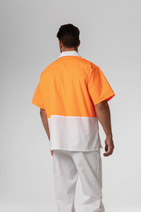 Food Hi Vis Day S/S Top - white/orange