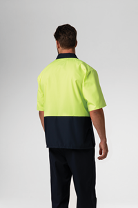 Food Hi Vis Day S/S Top - navy/yellow