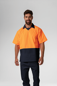 Food Hi Vis Day S/S Top - navy/orange