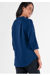 Iris Women's 3/4 Sleeve Tunic - estate blue