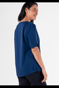 Poppy Women's Short Sleeve Tunic - estate blue