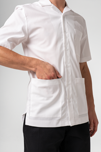 Mens Healthcare Tunic Short Sleeve Shirt - white