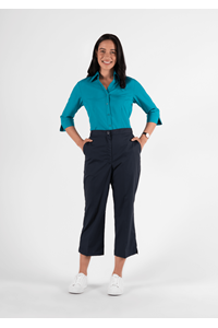 Health Womens 3/4 Trouser With Side Pockets - navy
