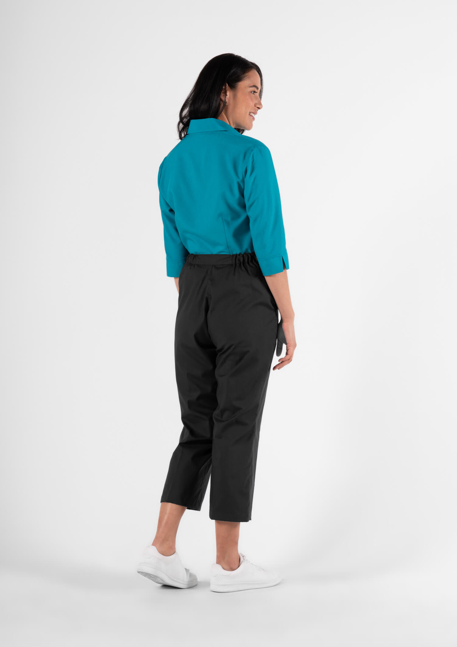 Health Womens 3/4 Trouser With Side Pockets - black