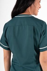 Dahlia Womens Nurse Crossover V-Neck Tunic - teal