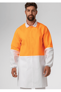 Food Dustcoat, Day Compliant - orange/white