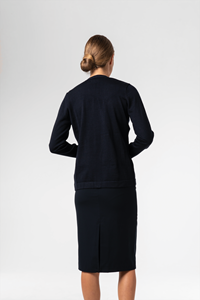 Deane Women's Knit Cardigan - french navy