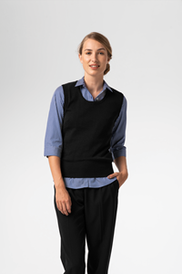 Women's Merino Vest - black