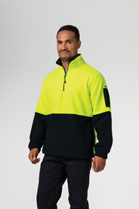 Hi Vis Day Fleece Top - yellow/navy